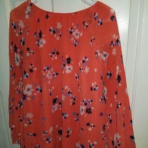 Orange ana blouse
